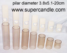 polycarbonate candle mold plexiglass acrylic mould transparent