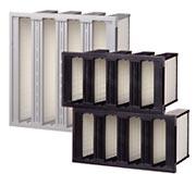 mini pleated v bank hepa air filters