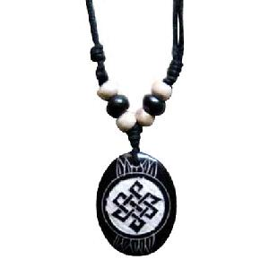 tibet carved yak bone pendant necklace