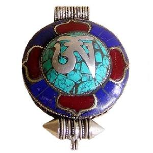 tibet silver prayer box pendant nepal