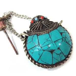 tibet turquoise coral snuff bottle