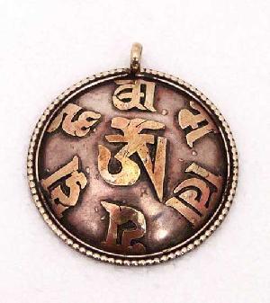tibetan buddhist om symbol pendant