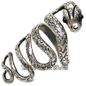 tibetan cobra silver rings