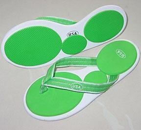 eva beach sandal die cut logo printing