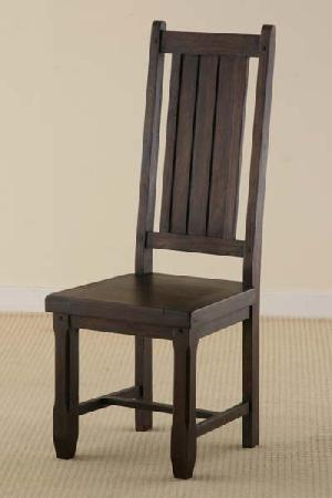 Indian Dark Mango Wood Dining Chair Manufacturer And Exporter