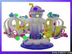 Amusement Kiddie Rides, Amusement Park Equipment, Rotating Kiddie Ride With Coin Operated