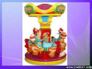 New Carousel, Mini Kiddie Rides, Amusement Merry-go-round, Coin Kiddie Ride