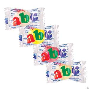 abc filled candy fruit flavour poland