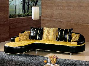 modern leather sofa living room furniture upholstered seat 809