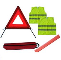 reflective safety kits warning triangle vest