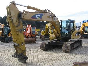 caterpillar track excavator 320cl build 2003 4200hrs quick coupler condition