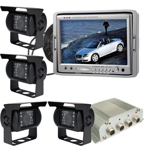 reversing camera system four 7 lcd monitor