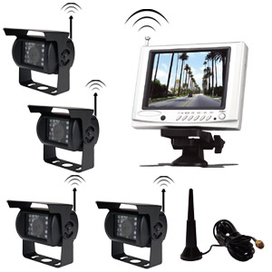wireless backup camera system 5 monitor four cameras