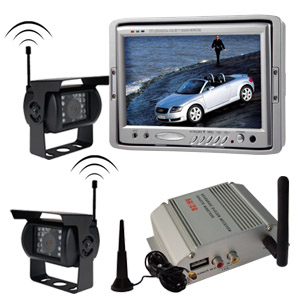 wireless backup camera system switching receiving box 7 monitor cameras