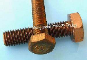 silicon bronze hex cap screw