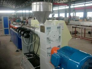pvc pe wall corrugated pipe extrusion line