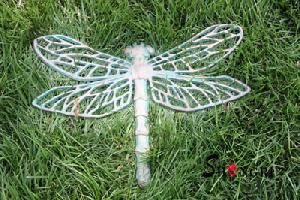 cast iron butterfly statue