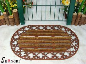 cast iron coir door mat