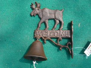 cast iron cow door bell