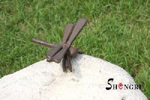 cast iron dragonfly figurine