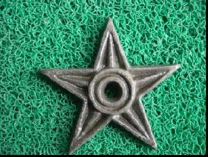 cast iron star decoration