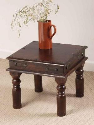 Dark Sheesham Hardwood Side Table, Wooden Table, Thakat Table, Wooden  Furniture Manufacturer India