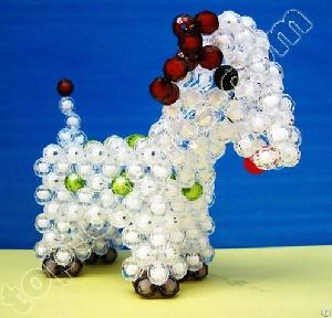 diy acrylic beaded goat plastic animal decoration