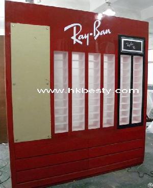 Famus Brand Acrylic Sunglasses Wall Display Cabinet Furniture For Shop  Interior Design
