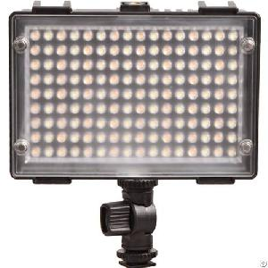 144 Bi-color Led On-camera Dimmable Video Light Pro Portable Compact Photo Light For Dslr