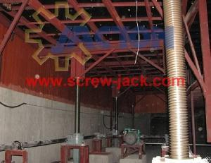 Electric Screw Jack Lift System Application For Theatre Stage Synchronous Lifting Platform