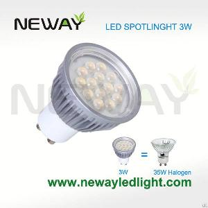 3w gu10 led spotlight smd5050 14pcs replace 35w halogen lamp