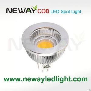 dimmable cob led spotlights 6w mr16 dc12v 80ra 520lm 3
