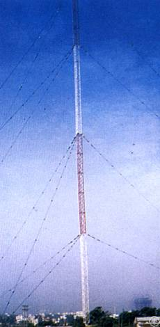 guyed tower mast