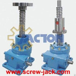 Acme Screw Jack With Flange, Helical Lift Screws Mechanism, Start Torque Screw Jack Gear Box 100 Mm