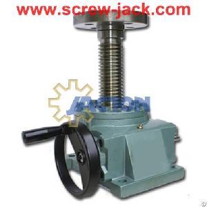 manual worm gear lift heavy screw jack lifting 700mm manuelle hubgetrie