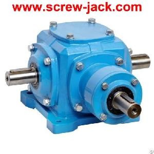 90 Degree Bevel Gearbox, 90 Degree Gear Box, Right Angle Gear Reducer, Spiral Drive Wrapping Machine