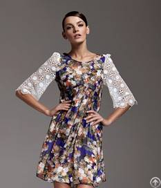 flower print lace decorate dresses purple blue page 1 products