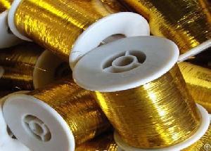 m gold 100g bobbin lurex yarn