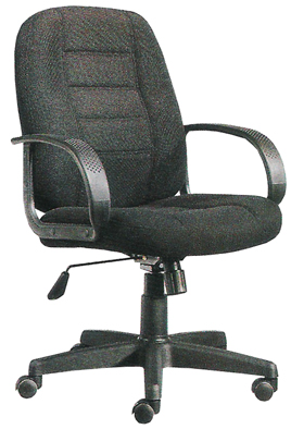 fabric arm chair office computer seat furniture