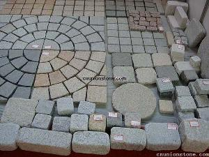 granite paving stone cobble driveway cube