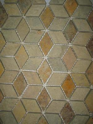 tumbled slate mosaic flooring tiles meshed discount manufacturer