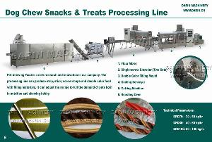 dog chew snacks processing line