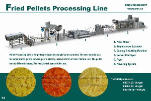 fried pellets processing line