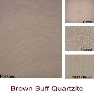 brown buff quartzite slabs tiles