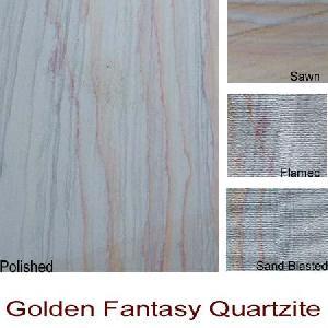 golden fantacy quartzite slabs tiles