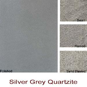 silver grey quartzite slabs tiles