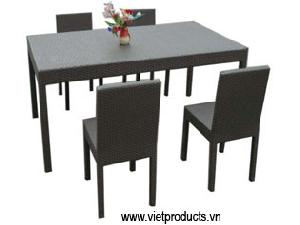 poly rattan dinning 06701