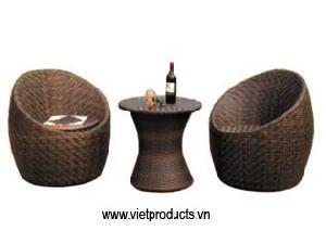 resin wicker coffee table