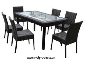 synthetic rattan dinning 06720