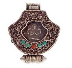 pure silver tibetan buddha locket